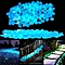 Pebbles Stones for Walkways Garden Outdoor Decorative Luminous Pebbles blue