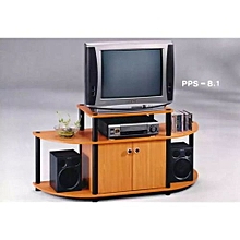 TV Cabinet - Beech/Black