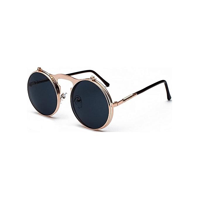 cd0e396c165b ... Sun Glasses Male UV400(Rose gold Black) · Retro Steampunk Circle  Vintage Round Flip Up Sunglasses Women Men Punk Style Sunglass Metal Frame  Black