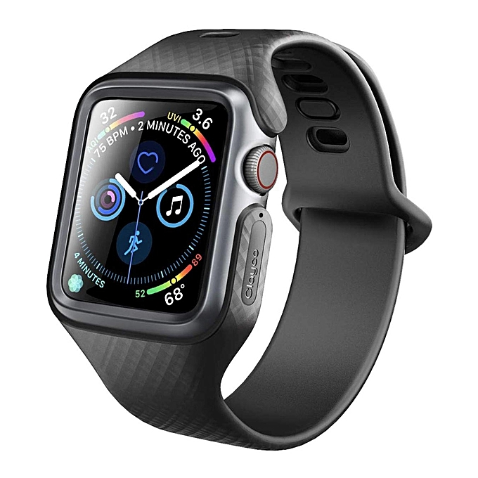 the latest a3094 68d92 Clayco HUltra Slim Protective Wristband Case for Apple Watch Series 4 -  44MM (Black) FCJMALL