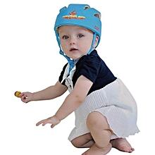 Adjustable Infant Baby Safety Helmet Kids Head Protection Caps Hat For Walking Crawling (Blue)