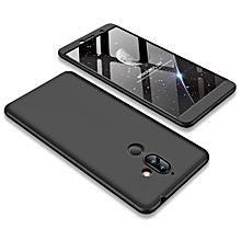 Nokia 7 Plus Plastic(PC) Phone Case, 3 In 1 Hard PC Phone Case For Nokia 7 Plus - Black With Silver.
