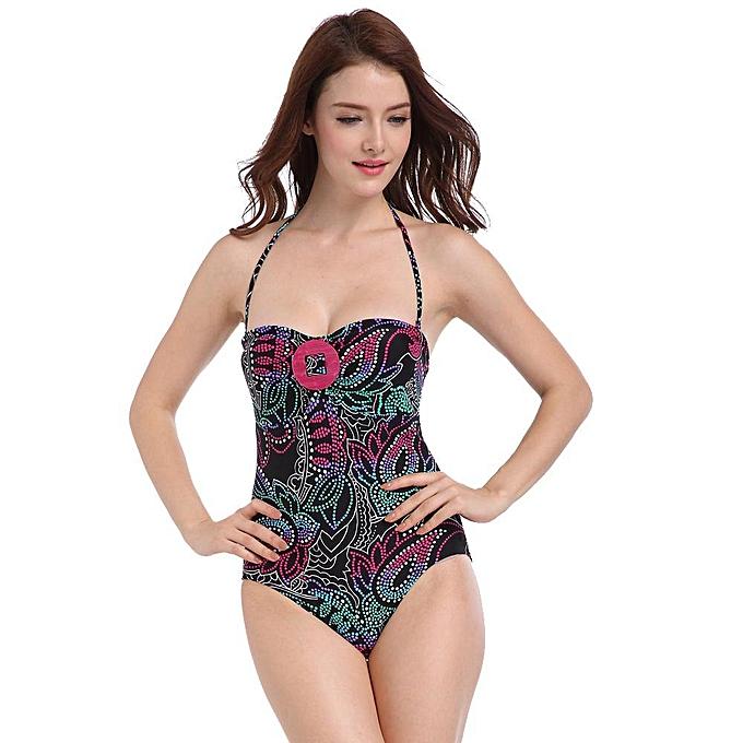 bcd203e882 2019 New Backless Swimwear Women One Piece Swimsuit Monokini Halter Plus  Size Swimwear Trikini Bathing Suit