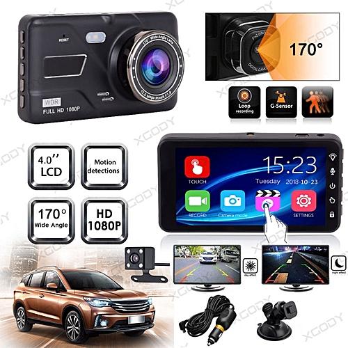 Xgody 4 0 Dual Lens Touch Hd 1080p Car Dvr Dash Cam Video Recorder