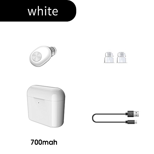 f290351c290 Generic Single Bluetooth Earphone Wireless Earbuds With Mic Charging Case  Mini IN-Ear Blutooth Headset Earpiece For Mobile Phone(#700mAh white)