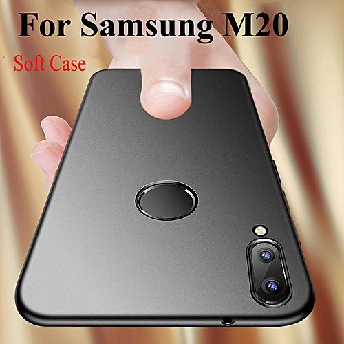 hot sale online 5f03f 6e7ac For Samsung Galaxy M20 Soft Matte Back Cover Phone Case (Black)