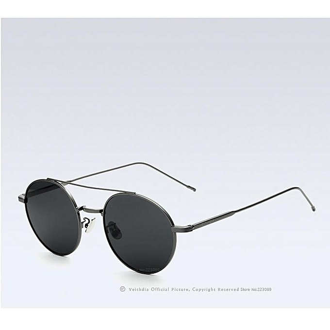 cf3f2cc6820 VEITHDIA Fashion Unisex Sun Glasses Polarized Coating Mirror Sunglasses  Round Male Eyewear For Men Women