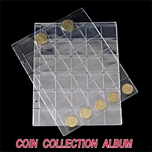 Classic 30 Pockets Plastic Clear Coin Pages Album Holders Collection Money Case