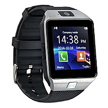 Bluetooth Smart Watch DZ09 Smartwatch Watch Phone Support SIM TF Card With Camera For Android IOS IPhone Samsung LG Phones-Black