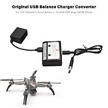USB Balance Charger Converter for 7.4V 1800mAh Lithium Battery for B5W Bugs 5W JJPRO X5 RC Drone