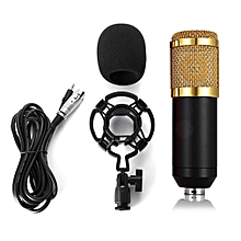 Dynamic Condenser Microphone Mic Sound Studio Recording Kit Braodcasting Tool