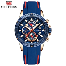 MF0244G Men Watch Silicone Strap Quartz Movement Simple Wristwatch Time Display Casual Waterproof Clock for Male