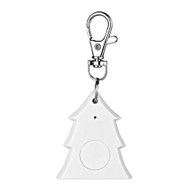 Mini Christmas Tree Shape Smart Tag Bluetooth 4.0 Wallet Key Keychain Finder-white