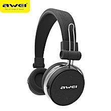A700BL Bluetooth Headphones Wireless Stereo Super Deep Wireless Headset Subwoofer - Black
