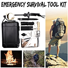 9 in 1 SOS Emergency Kit Outdoors Hiking Camping 1.4x2.1m Blacket Tool Set