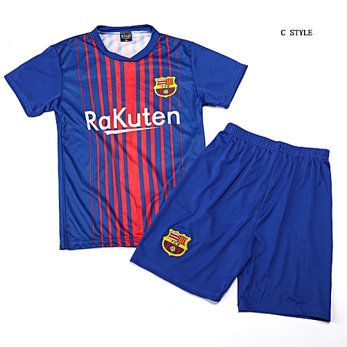 Generic Boy Barcelona Soccer Jersey Uniform Kids Sport Football Jersey  Uniforms 0dc8c98d9
