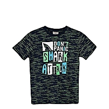 Boy Blue Printed Regular Crew Neck T-Shirt