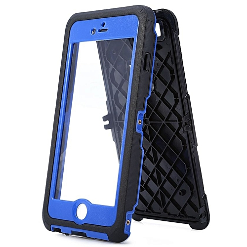 promo code f6dc4 fb94f IP68 Waterproof Case Cover Screw Thread Finger-prints For IPhone 6 Plus 6S  Plus - Blue