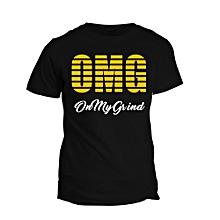 Black O.M.G  T- shirt Design