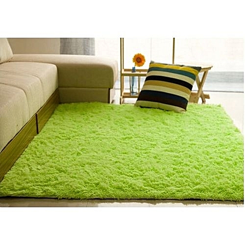 Shaggy Anti-skid Carpets Rugs Floor Mat/Cover 80x120cm (Green)