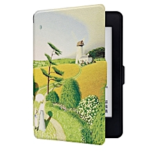 ABS Plastic Village Autumn Harvest Smart Sleep Protective Cover Case For Kindle Paperwhite 1/2/3 eBook Reader