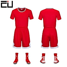 Latest Customized Blank Youth Men's Basketball Team Sports Jersey-Red(GY-6137)