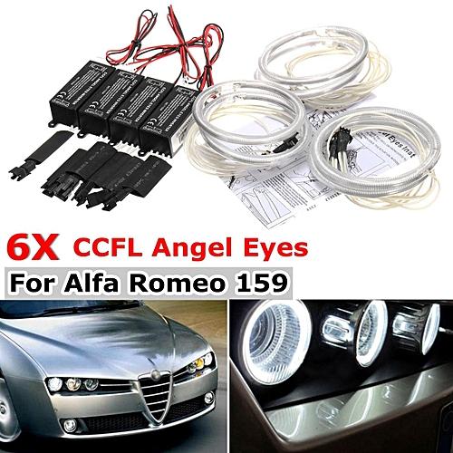 For Alfa Romeo 159 05-11 CCFL Angel Eyes Halo Ring Demon Devil headlight DRL