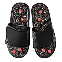 Foot Massage Slippers Reflexology Massage Sandals Pebble Stone Massage Shoes  M