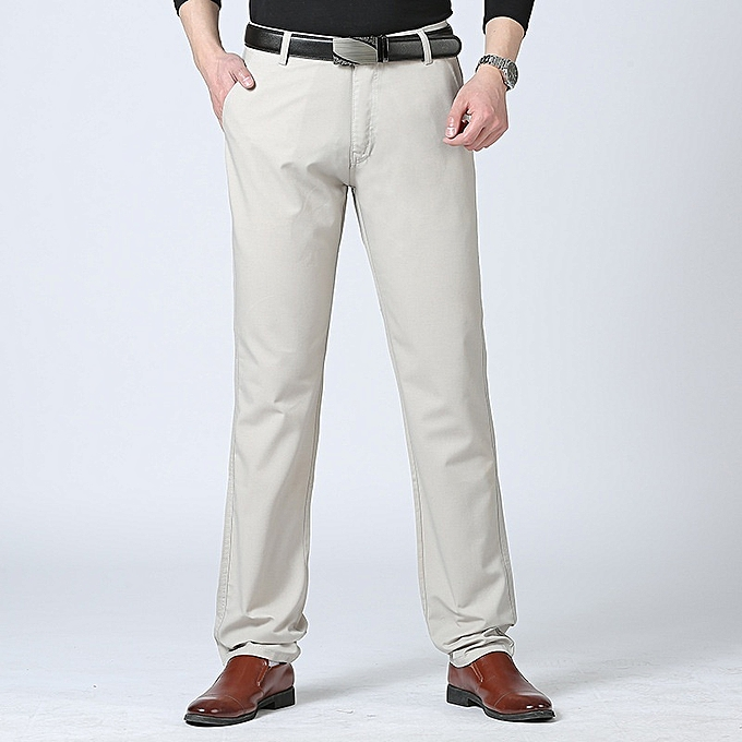 Generic New Stylish Autumn Men Leisure High Waist Pants Thin Trouser