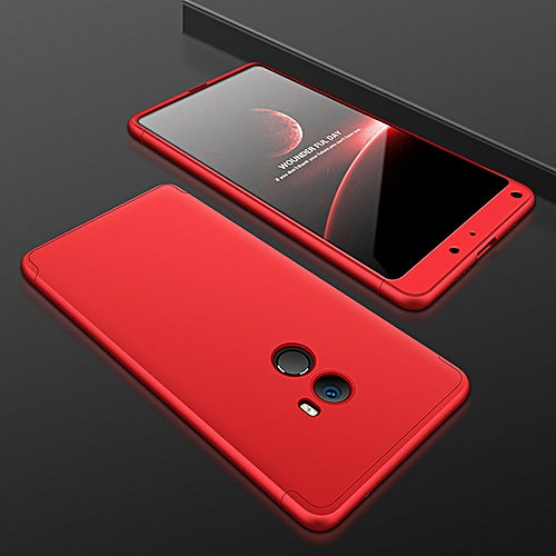 brand new 01cbc 0afa6 Mi MIX 2 Case Rugged 360 Degree Full Protection Case Hard PC 3 In 1 Fundas  Coque Back Cover For Xiaomi Mi MIX 2 Mix2 (Red)