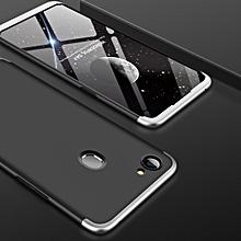 GKK for OPPO F7 PC 360 Degrees Full Coverage Protective Case Back Cover (Black + Silver)