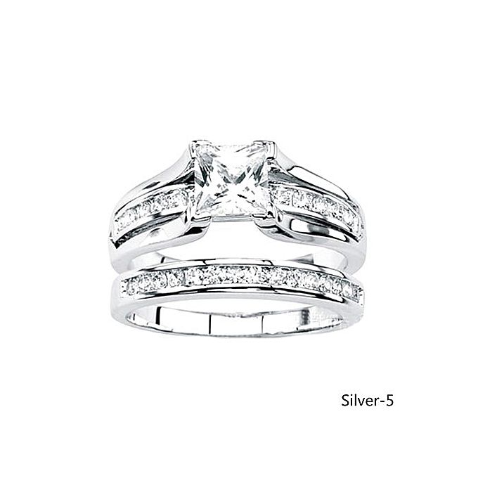 2 In 1 Womens White Shire Diamond Ring 925 Sterling Silver
