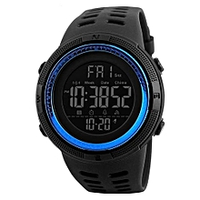 1251 Brand Men Fashion Sport Watches Chrono Men Waterproof Digital Watch Man military Clock - Blue