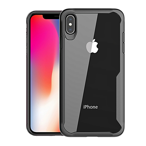 premium selection 8f46b 80d7c IPhone XS Max Transparent Case PC And TPU Phone Back Cover - Black