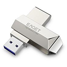 Eaget F70 USB 3.0 128GB Metal USB Flash Drive U Disk Pen Drive 360 Degree Rotation