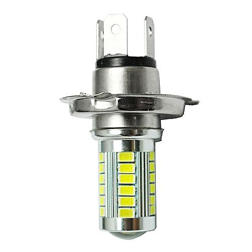 huskspo 12V H4 33 LED SMD White Car Fog Light Headlight Driving Lamp Bulb