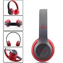 Bluetooth Headphone Wireless  Earphone Hands Free Music Headset-Black/Black