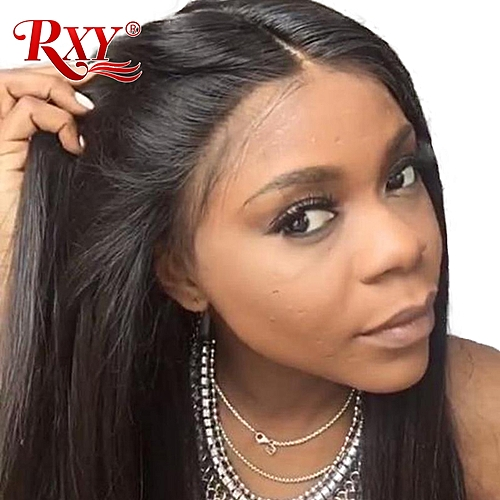 Generic RXY 360 Lace Frontal Wig Pre Plucked With Baby Hair Straight Lace  Front Human Hair Wigs For Black Women Remy Hair Lace Front Wig 74f4e312b6