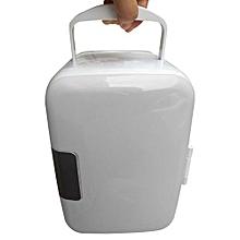 White 12V Mini Car Home Dual-use Refrigerator Incubator 4L Refrigerator Portable Refrigerator Travel Refrigerator Incubator US Plug