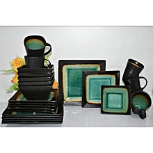 24-piece Dinner set- shade of green