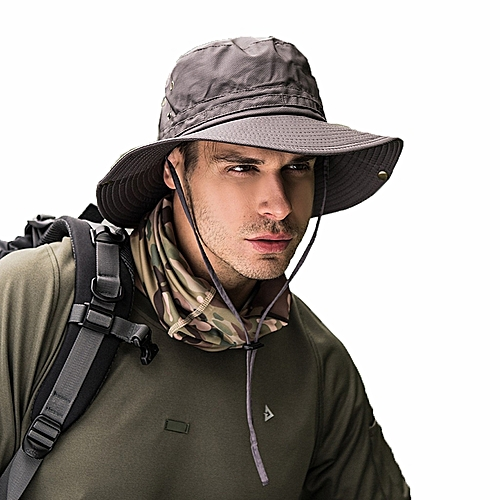 Generic S661 Men Hat Fast Drying Fishing Hat Visor Sun Protection Cap  Climbing   Best Price  13bcca8033a6