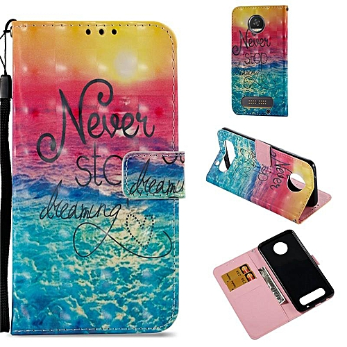 reputable site 478ab d3a0a PU Leather Wallet Case Cover for Motorola Moto Z2 Play