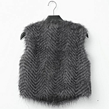 745f8cd01e4e5b Women  039 s Warm Faux Fur Sleeveless Vest Coat V-Collar Waistcoat Jacket