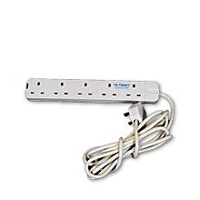 5 Way Power Extension-white