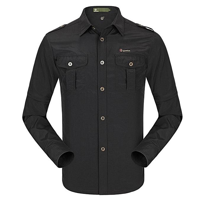 760ab93e767e ... Mens Summer Thin Anti-UV Long Sleeve Detachable Outdoor Quick-drying  Shirts ...