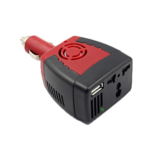 Hiamok_New 150W Car Power Inverter Charger Adapter 12V DC To 110V AC USB 5V EW