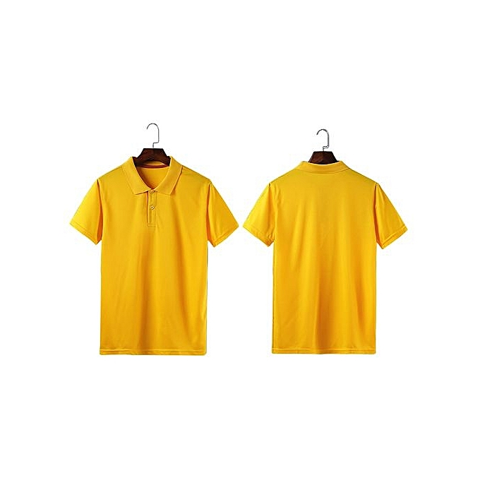 New Fashion Men And Women Available Formal Or Casual Summer Polo Shirts- Yellow 7930b6ccc7
