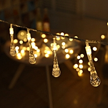 1.5M 10LED Colorful Glow Water Drop String Lights Party Wedding Decor Lights YE