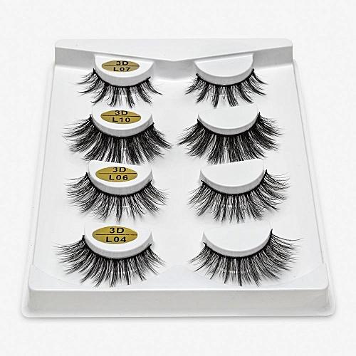 997bd079556 Generic 2/4 pairs natural false eyelashes fake lashes long makeup 3d mink  lashes eyeextension mink eyelashes for beauty(L15)