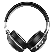 B19 LCD Display Stereo AUX Wireless Bluetooth Headset With Mic (TF Card & FM Radio Compatible)